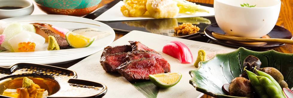 厳選食材を使った創作和食をコースで味わう